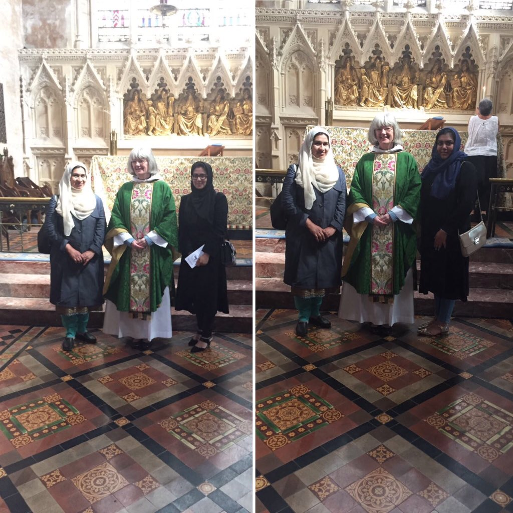 Ahmadi Muslim ladies #Cardiff @LajnaUK attended #interfaith event held by @Women_CF and visited #worship places to explore different #faiths<br>http://pic.twitter.com/Mjw7haTVjc