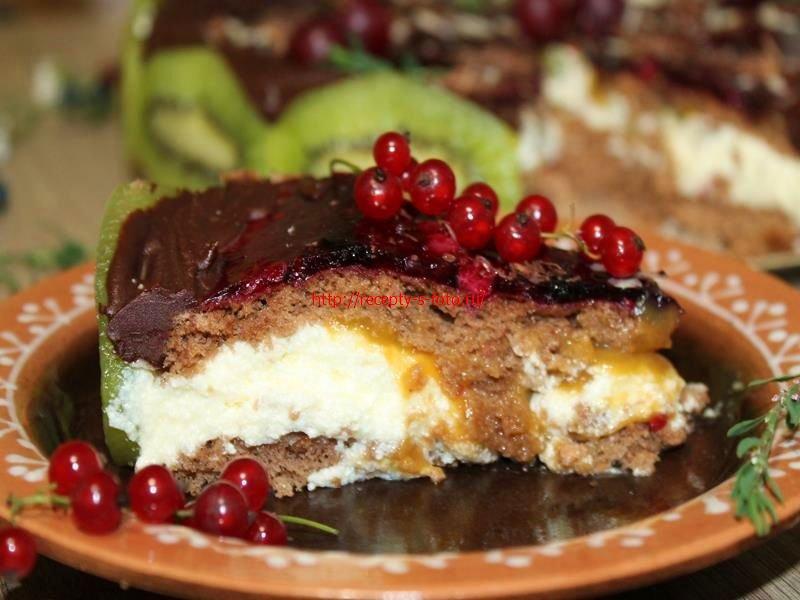 Рецепт торта с разноцветными коржами