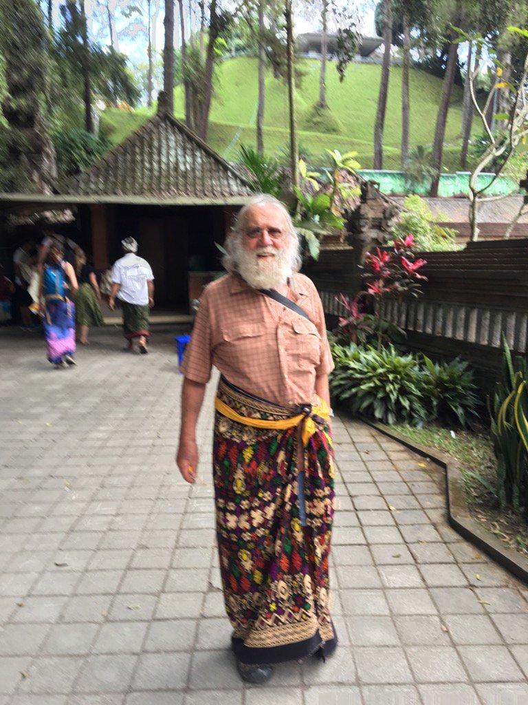 Charlie in sarong, Bali.