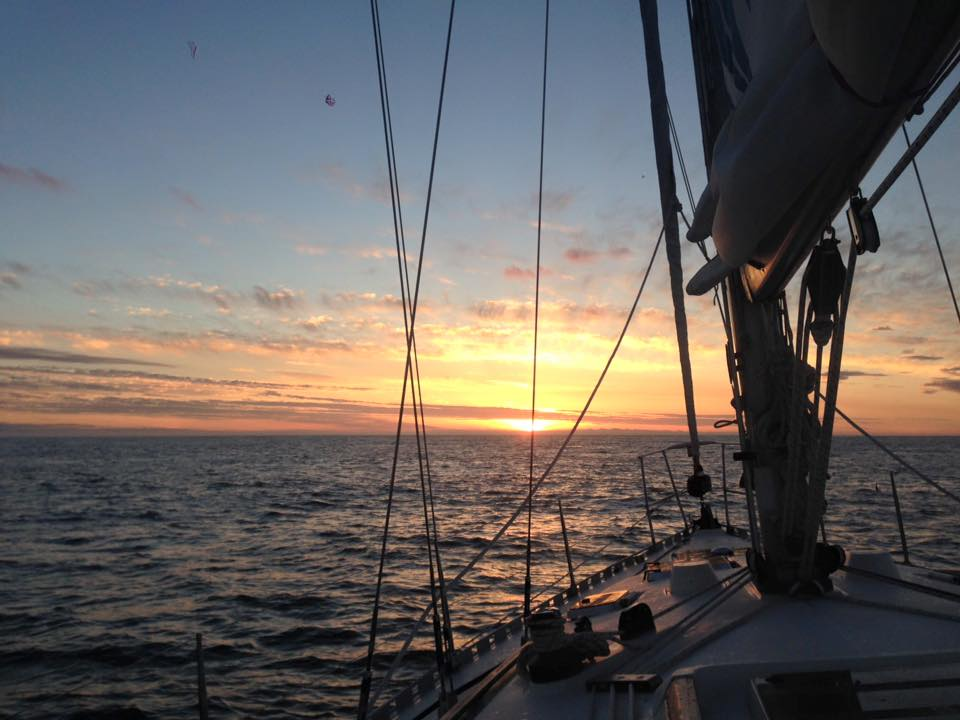 Stunner of a morning in the #BristolChannel for the #RoundBritain2017 crew 🌞All doing brilliantly after 27 hours at sea and counting!