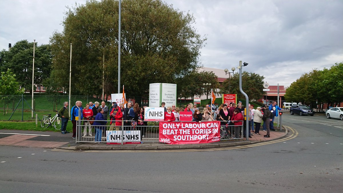 @NurseFletcher Plenty of people and lots of beeps of car horns supporting our #NHS while we wait for Jeremy Hunt #scrapthecap #Southport <br>http://pic.twitter.com/SDOwRYAaak