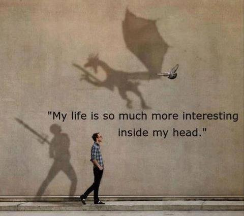 My life is infinitely more interesting in my head.  #writerslife #amwriting #amreading<br>http://pic.twitter.com/wCCkDZUbst