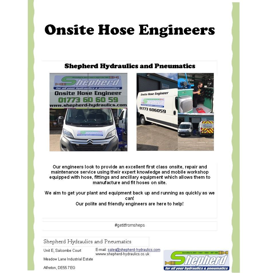 New #onsite #hose #engineers available now covering Derbyshire, Nottinghamshire and Leicestershire!<br>http://pic.twitter.com/joZwV4ufLt