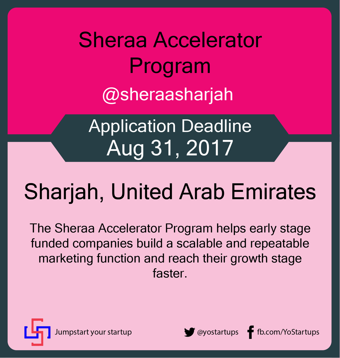 Checkout @sheraasharjah help to build a scalable and repeatable marketing function #accelerator #yostartups  https:// goo.gl/S1uqi5  &nbsp;  <br>http://pic.twitter.com/f0LEG6AIqR
