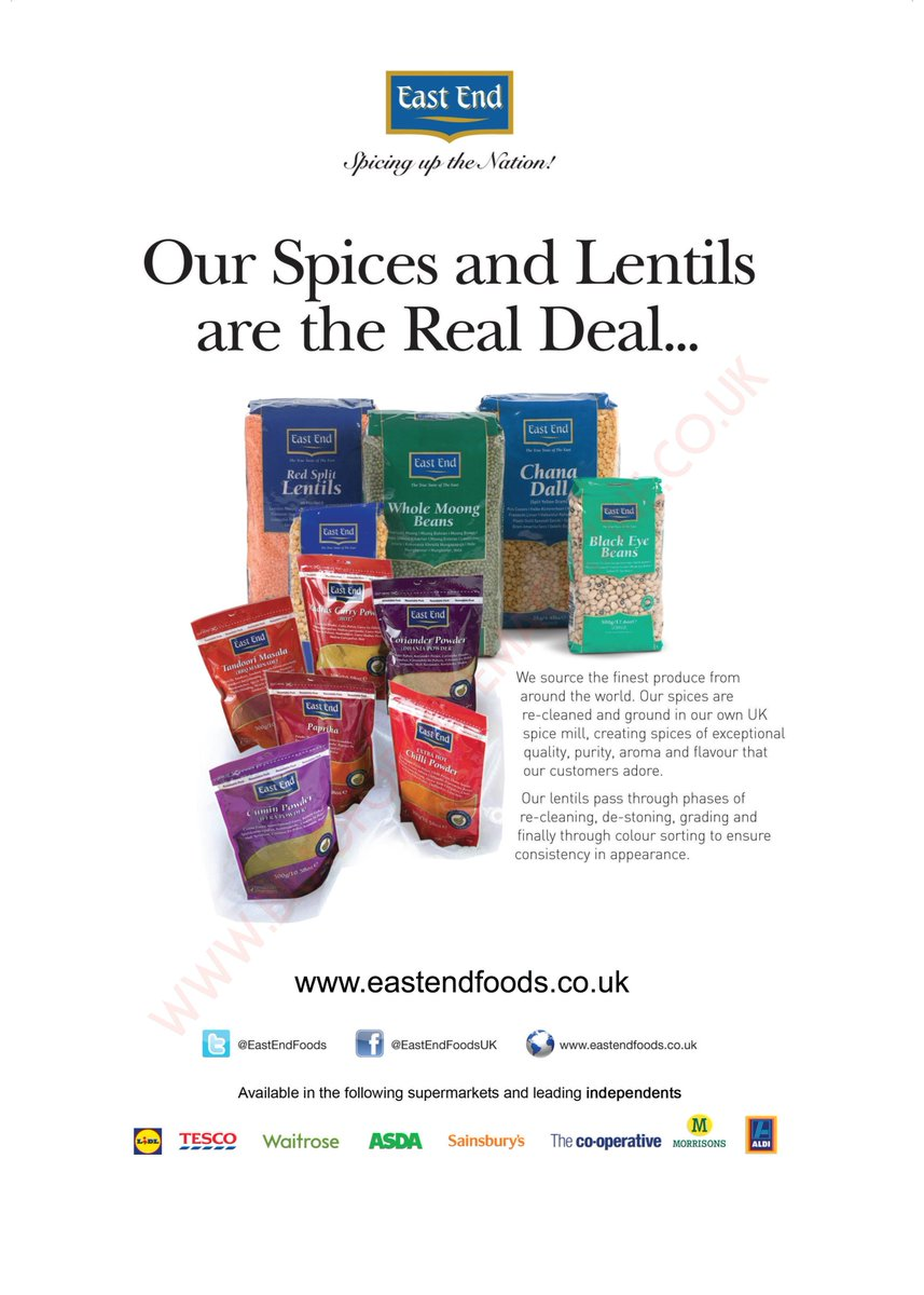 Welcome to new @BradfordLifeMag advertisers @EastEndFoods who are &#39;Spicing up the Nation!&#39;  #food #spice #lentils #beans #curry #flavour<br>http://pic.twitter.com/Kgc2dc0gHZ