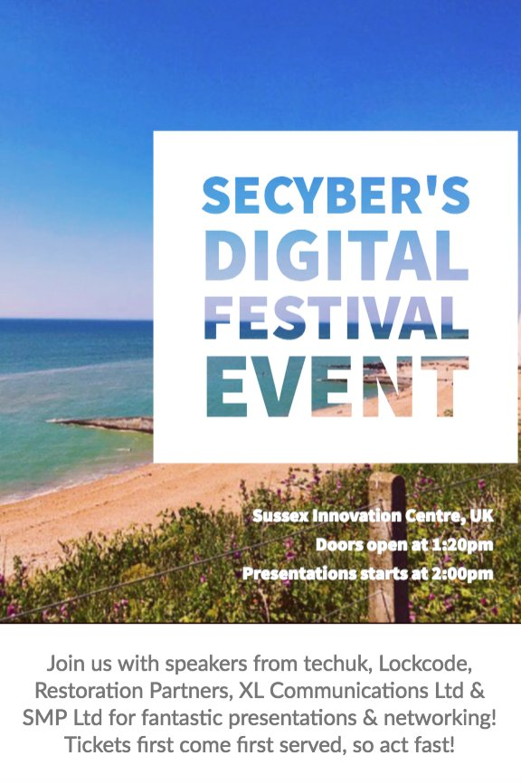 Cyber Security Digital Festival Event by @SouthEast_Cyber  http:// goo.gl/3T2BWN  &nbsp;   #Business #CyberSecurity #Funding #PR #IP #Event #SECyber<br>http://pic.twitter.com/vnUZ8IouQT