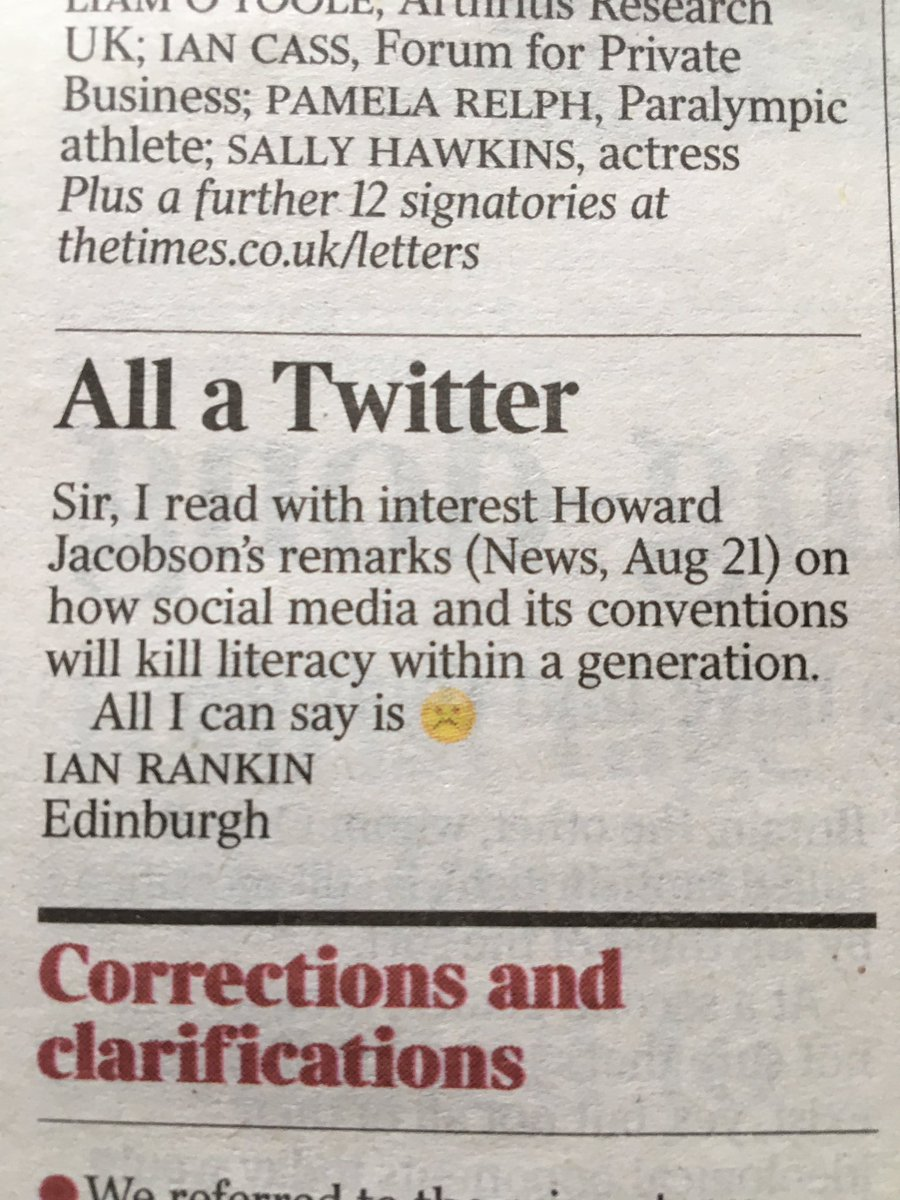 Finally got a letter printed in The Times... https://t.co/0Bzi1X6B5d