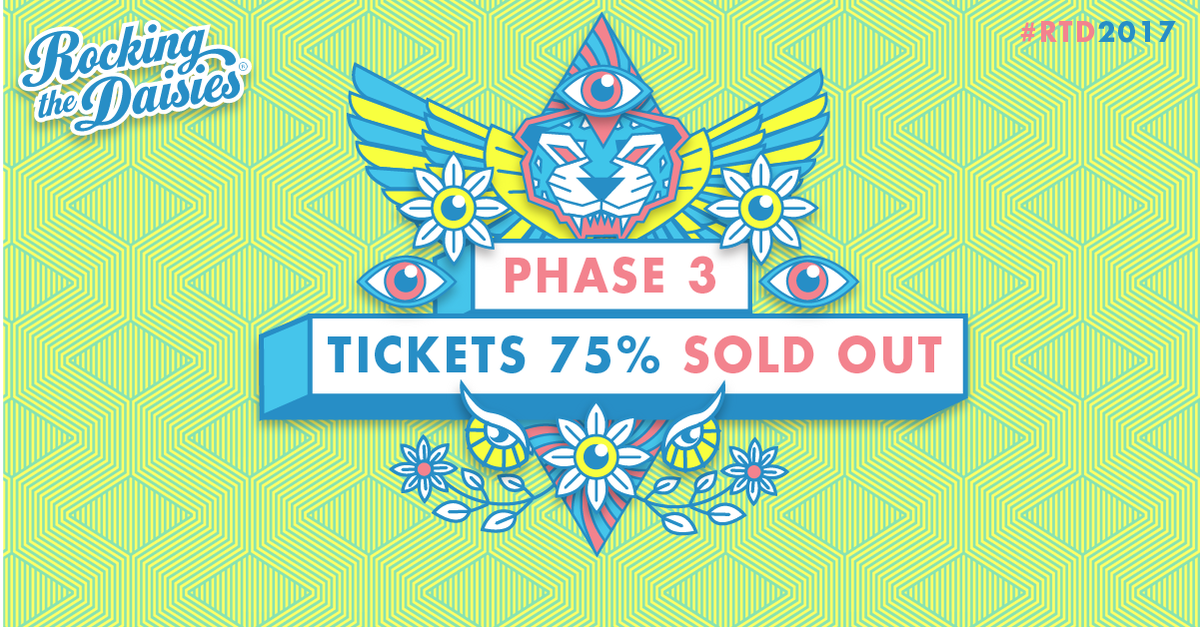 PHASE 3 TICKETS 75% SOLD OUT! #RTD2017 IS ALMOST SOLD OUT! BOOK NOW: https://t.co/jkGER37sJA https://t.co/kh4GvVqPOM