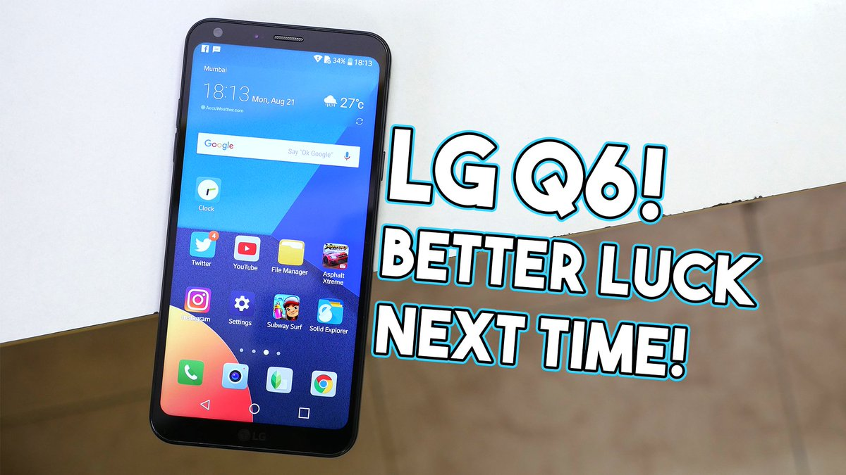LG Q6 Review is live! The display is AMAZING but Don&#39;t buy it! Watch the video to know more-  https:// youtu.be/2bNtkpzbKM0  &nbsp;   #LGQ6 #Review <br>http://pic.twitter.com/X5vgnfU9rW