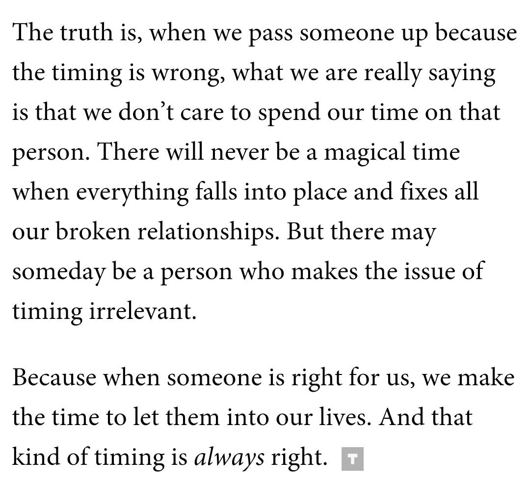 Why we always meet the right person at the wrong time