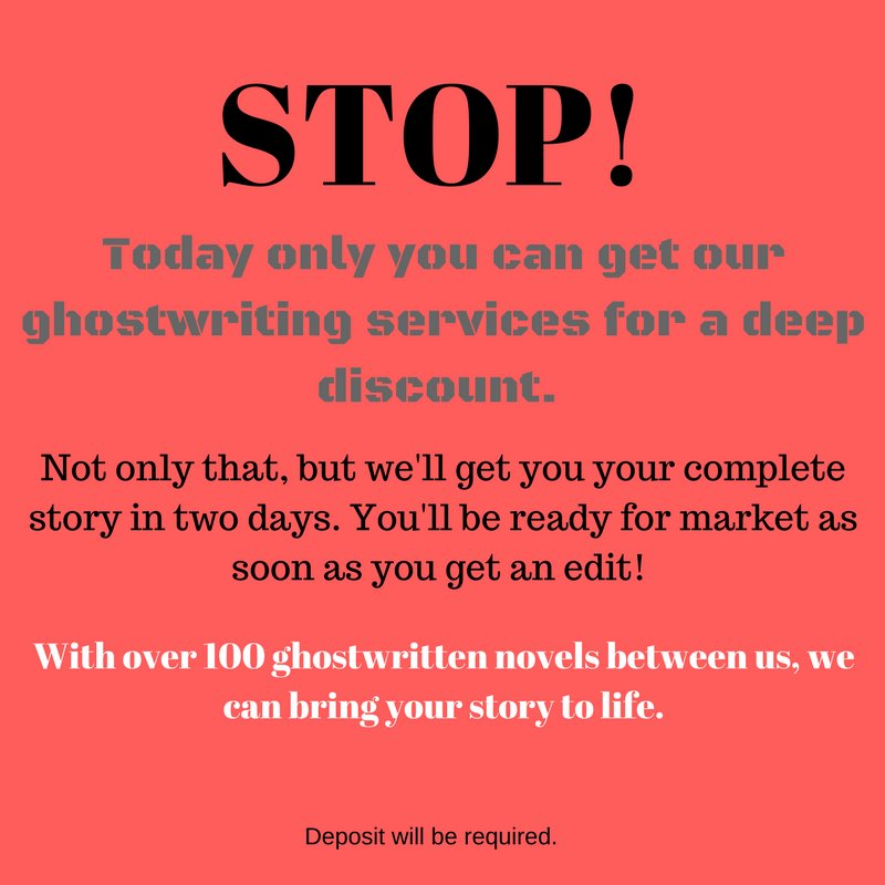 Do you have a story that needs to be told?! #asmsg #hugesale #discount #ghostwriter #ghostwriting #writer4hire #Freelance #freelancewriter<br>http://pic.twitter.com/4zFfRb81uT