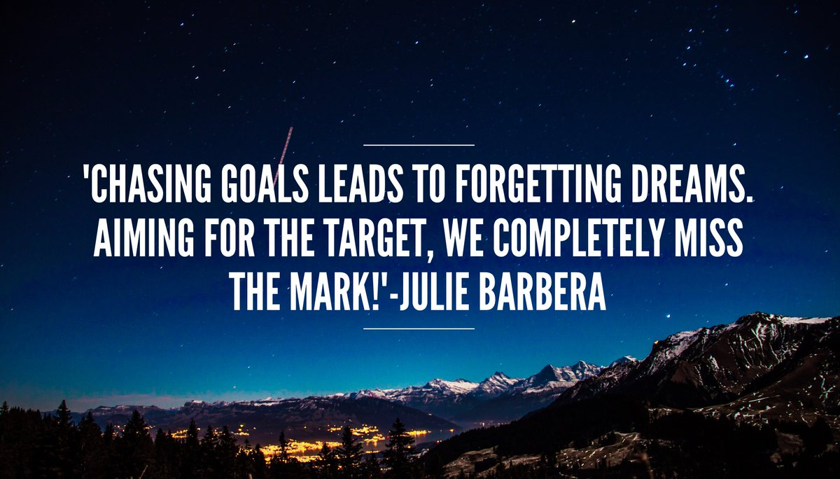 &#39;Don&#39;t chase #goals If you do, you just might aim for the target yet completely miss the mark. #Focus on the #vision and #PursuePurpose !&#39;<br>http://pic.twitter.com/o1meIrhB9d