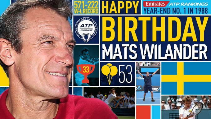 Join us in wishing a happy birthday to  legend Mats Wilander! View ATP Profile: