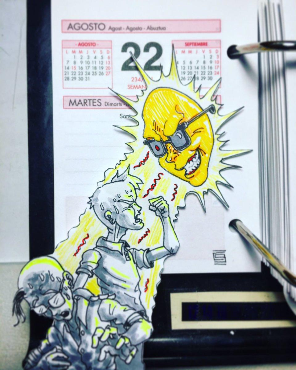 I thought you were cool, Mr. Sun!! #calendarcomic #summer <br>http://pic.twitter.com/rrUTeL3eOy