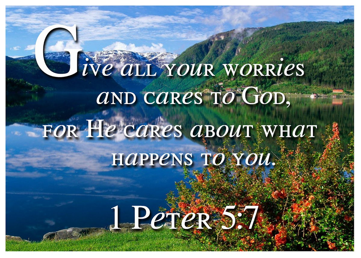 Worrying solves NOTHING! Prayers of #faith move mountains! 1 Peter 5:7 &quot;Give all your worries and cares to God, for he cares about you.&quot; <br>http://pic.twitter.com/LzTVwhZLze