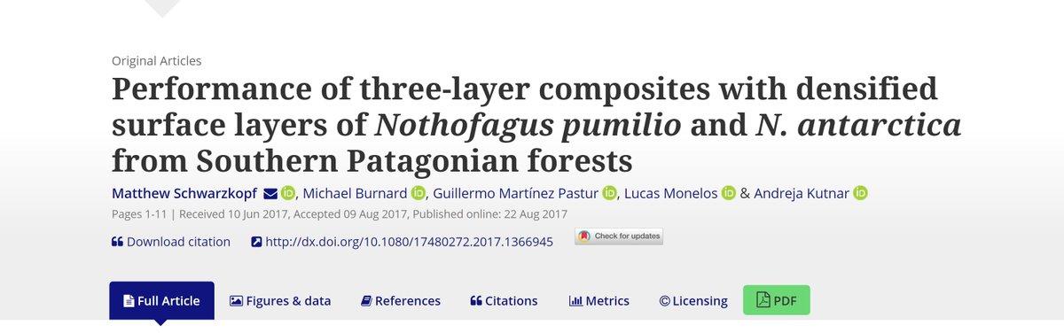 Read our new #openaccess paper on #wood composites by @mschwarzk, @mburnard, @AndrejaKutnar et al  http://www. tandfonline.com/doi/full/10.10 80/17480272.2017.1366945 &nbsp; … <br>http://pic.twitter.com/Z4lvA3Fpx9