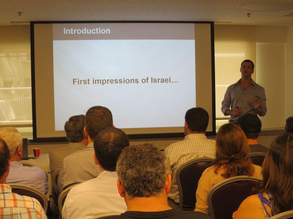 Presenting #Israel&#39;s #tech #innovation #economy and #startup #entrepreneurship culture to a #business Group from #Argentina | #StartUpNation<br>http://pic.twitter.com/EjOqmjGzOY