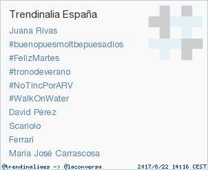 #WalkOnWater acaba de convertirse en TT ocupando la 6ª posición en España. Más en trendinalia.com/twitter-trendi… #trndnl