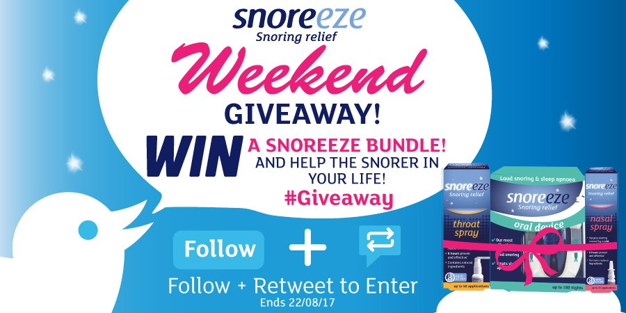 Last chance to enter our #Giveaway to help the snorer in your life! #TuesdayThoughts Follow &amp; #RT to #WIN. Comp ends 22/08. #Free #snoring<br>http://pic.twitter.com/VjdF6nuXKZ