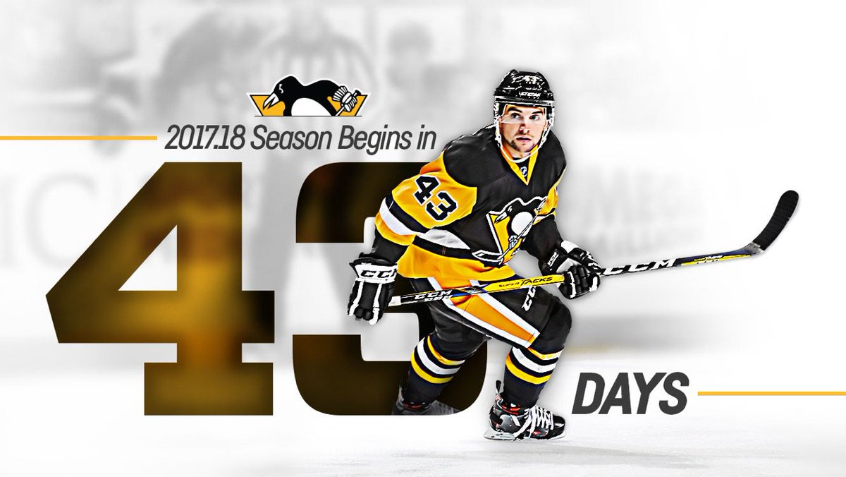 Conor Sheary days until the season starts!