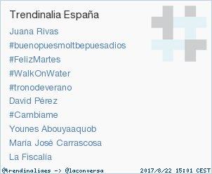 #Cambiame acaba de convertirse en TT ocupando la 7ª posición en España. Más en trendinalia.com/twitter-trendi… #trndnl