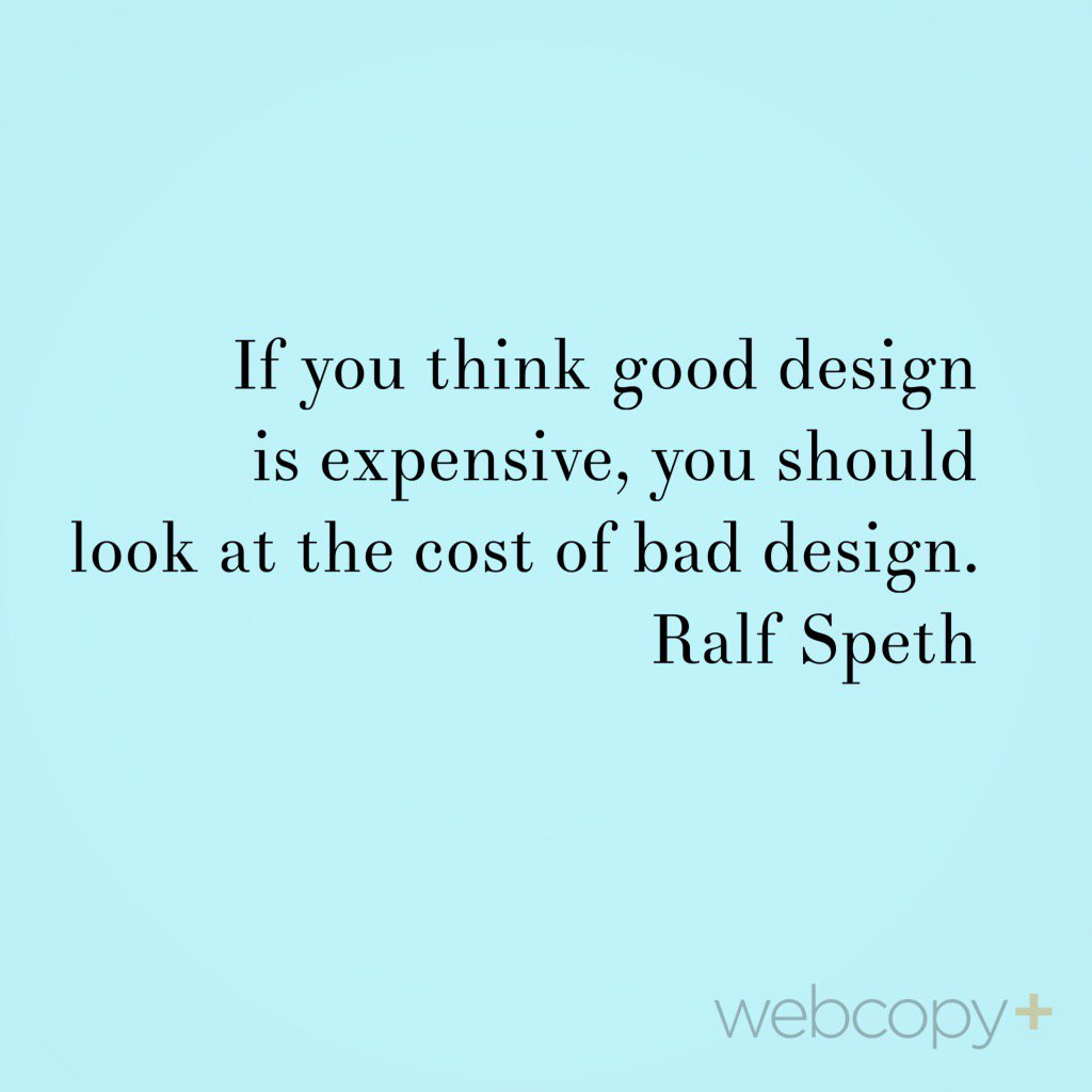 If you think good #design is expensive... http:// blog.webcopyplus.com/2017/07/19/pro moting-the-value-of-design/ &nbsp; … <br>http://pic.twitter.com/vL6CZDfk5i