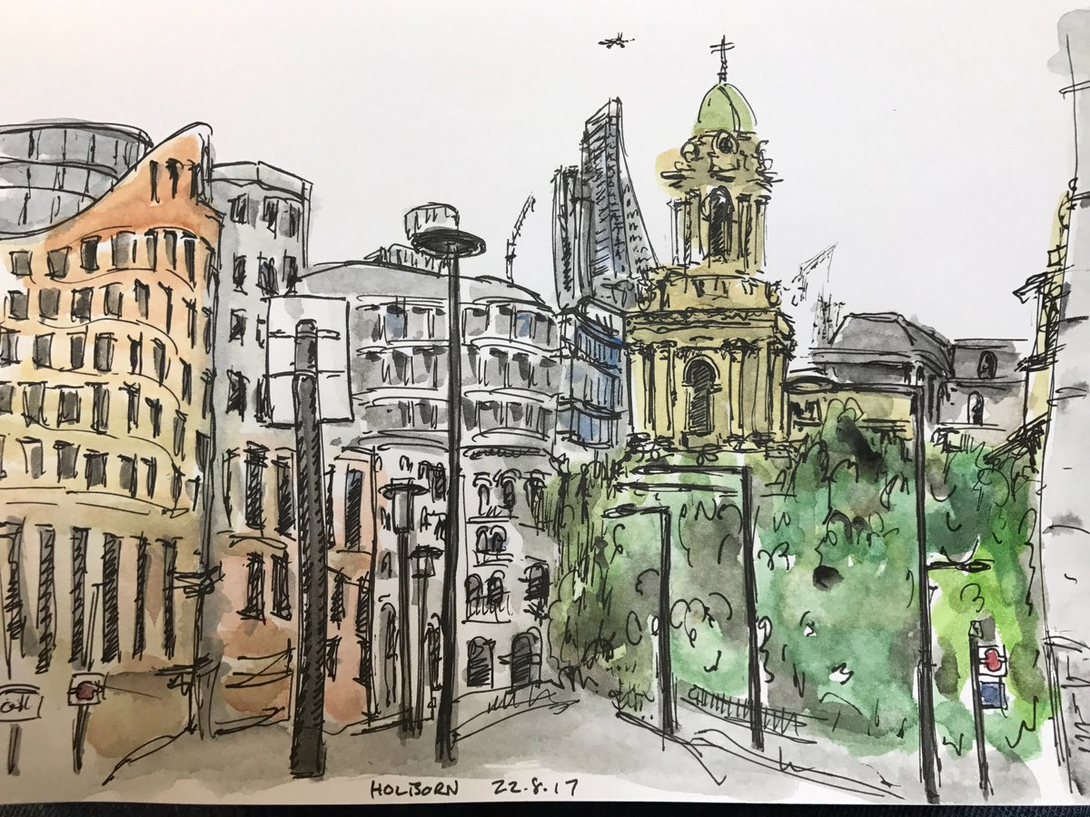 Lunch time sketch in #Holborn  #London #architecture #urbansketcher #art #sketch #drawing #illustration #painting<br>http://pic.twitter.com/etOuZqfPp1