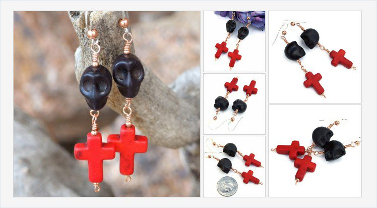 New! Black #skulls &amp; red crosses #DayoftheDead #Halloween #earrings!   https://www. shadowdogdesigns.com/product/black- skulls-and-red-crosses-day-dead-earrings-handmade-halloween-dia-de-los-muertos-jewelry &nbsp; … <br>http://pic.twitter.com/ugC0lGOet4