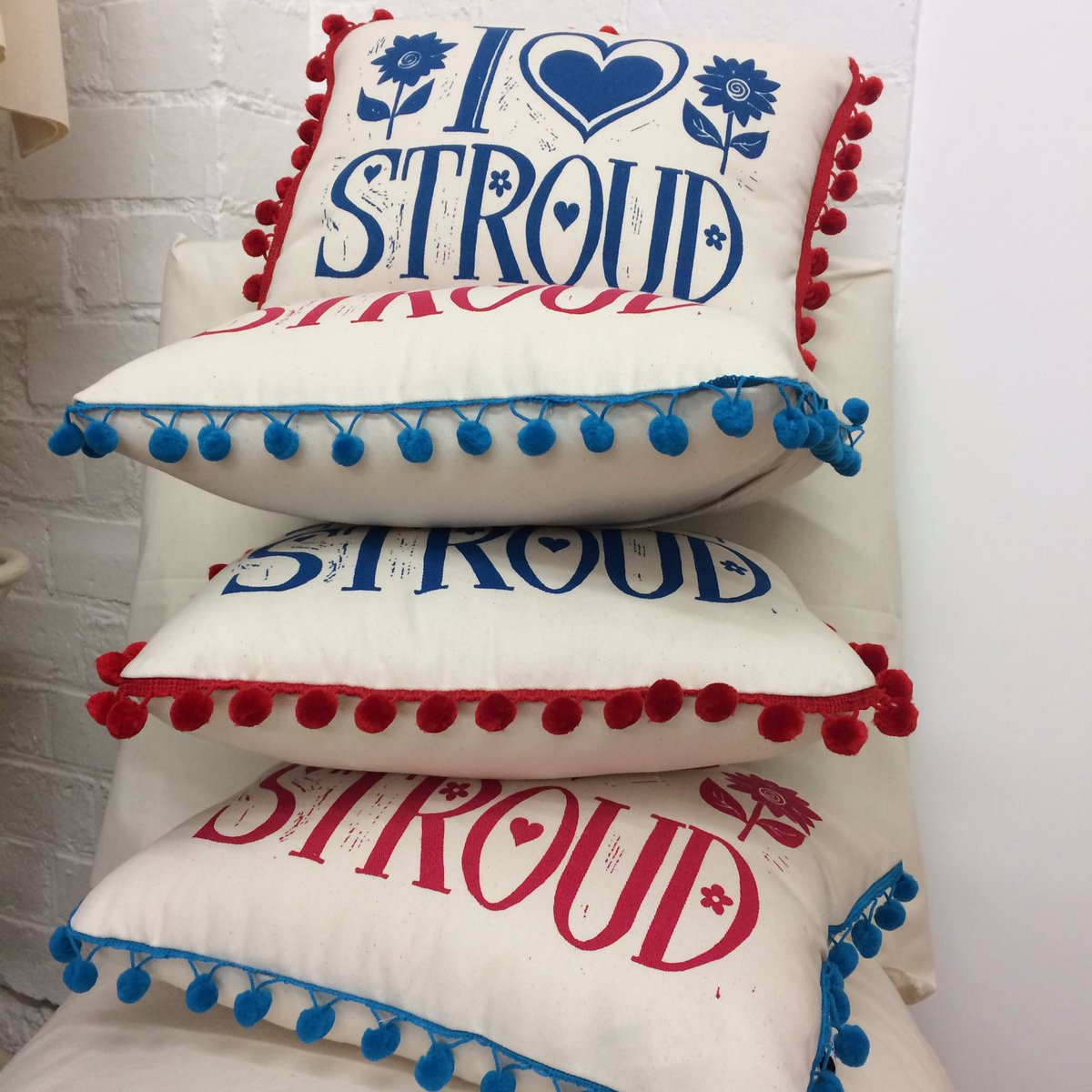 #Stroud cushions on their way to @madeinstroud this week just in time for @Stroudfringe  #stroudfringe #shoplocal <br>http://pic.twitter.com/F6jxz25QBJ