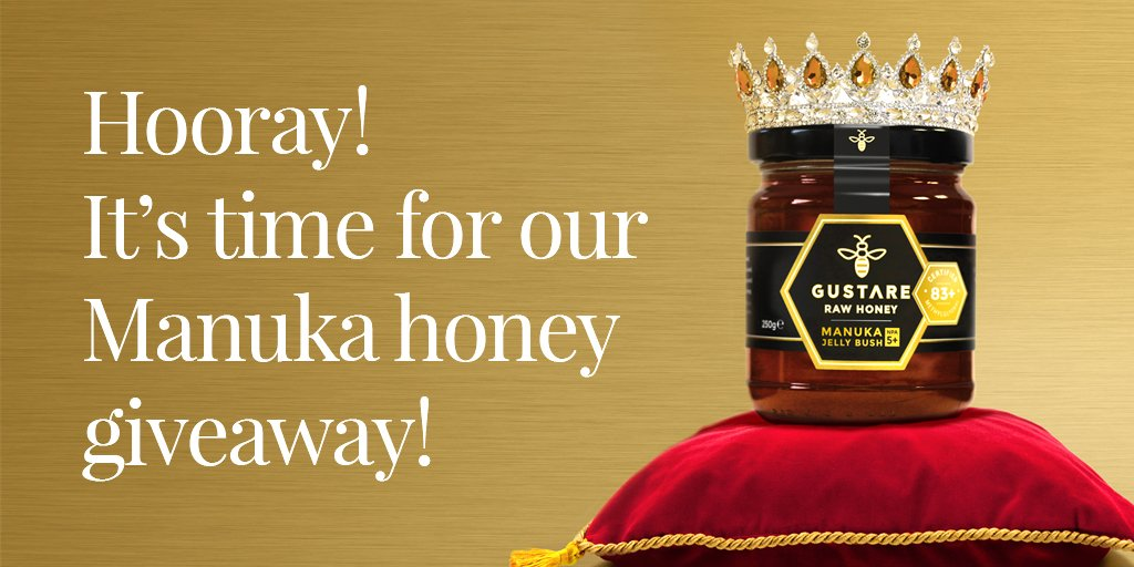 There&#39;s not long left to enter our Manuka Jelly Bush honey giveaway! Simply RT &amp; follow by 12pm 25th August. #win #freebie #giveaway<br>http://pic.twitter.com/Qvbl2pnMIm
