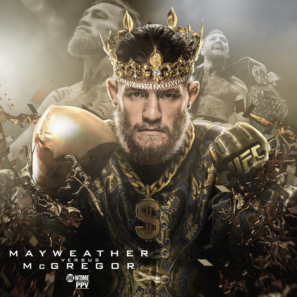 Conor rumored to be walking out with his four Titles  #PureEVilMMA #MayMac #UFC #MMA #Boxing #TeamMMA4Life<br>http://pic.twitter.com/pV2KoVIidU