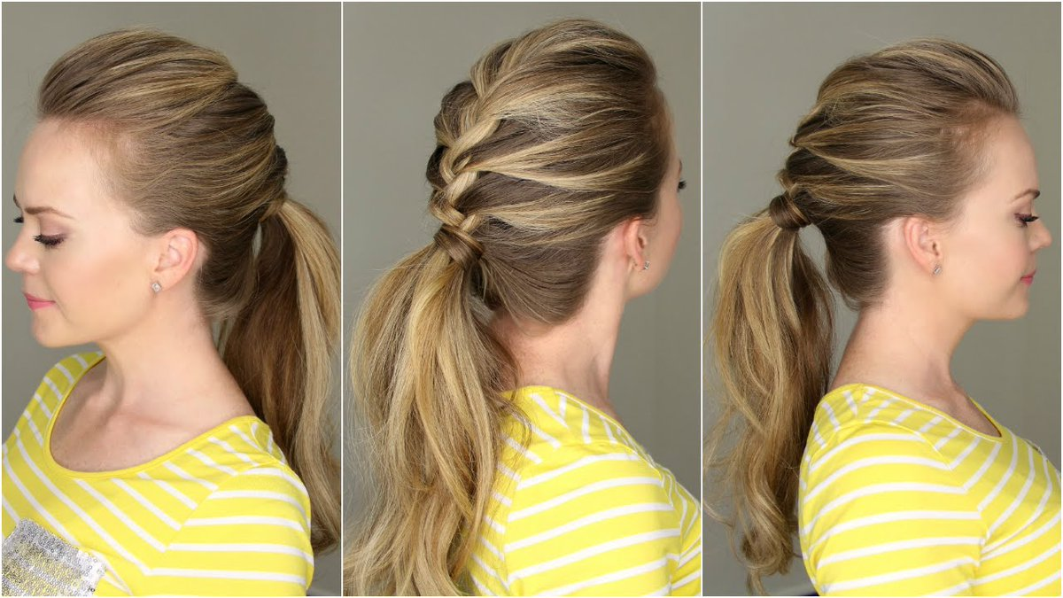 This French braid ponytail is adorable! #hairtutorial #hairstyle  http:// qoo.ly/h9g8h  &nbsp;  <br>http://pic.twitter.com/xqpv8vvkzh