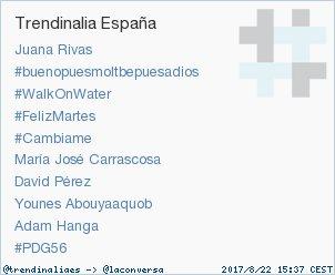 #PDG56 acaba de convertirse en TT ocupando la 10ª posición en España. Más en trendinalia.com/twitter-trendi… #trndnl