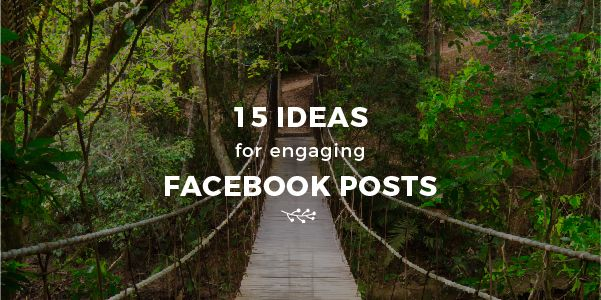 Need Inspiration? 15 Types of Facebook Posts You Can Use to Engage Your Audience:   https:// buff.ly/2vP6Y36  &nbsp;   #facebookmarketing #engagement <br>http://pic.twitter.com/6r4smGOzvh