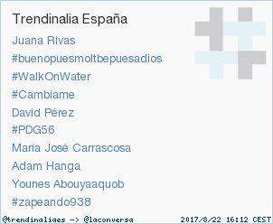 #zapeando938 acaba de convertirse en TT ocupando la 10ª posición en España. Más en trendinalia.com/twitter-trendi…