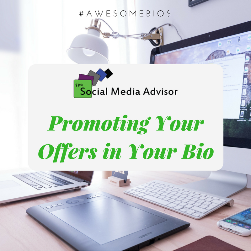 How to use your #socialmedia bios to promote your newest offers.  http:// ow.ly/aYBP30eAEBf  &nbsp;   #BuildYourBusiness #ProvideValue<br>http://pic.twitter.com/YkKtig8aqV