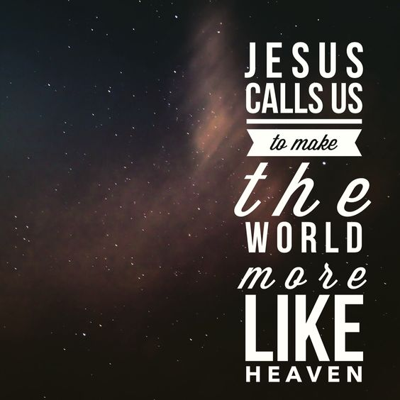 Jesus calls us to make the world more like Heaven  #Mark9:9-13 #PraiseGod #LovePeople #ServePeople #TrustGod #JesusIsLove #ReadingWithJoost <br>http://pic.twitter.com/Gnh9wUzFgE