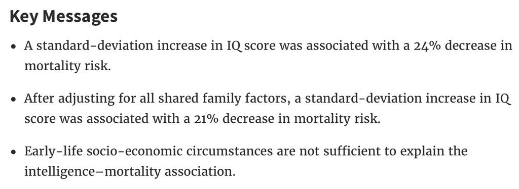 Does High Iq Increase Risk Of >> Steve Stewart Williams On Twitter More Evidence That Higher Iq Is
