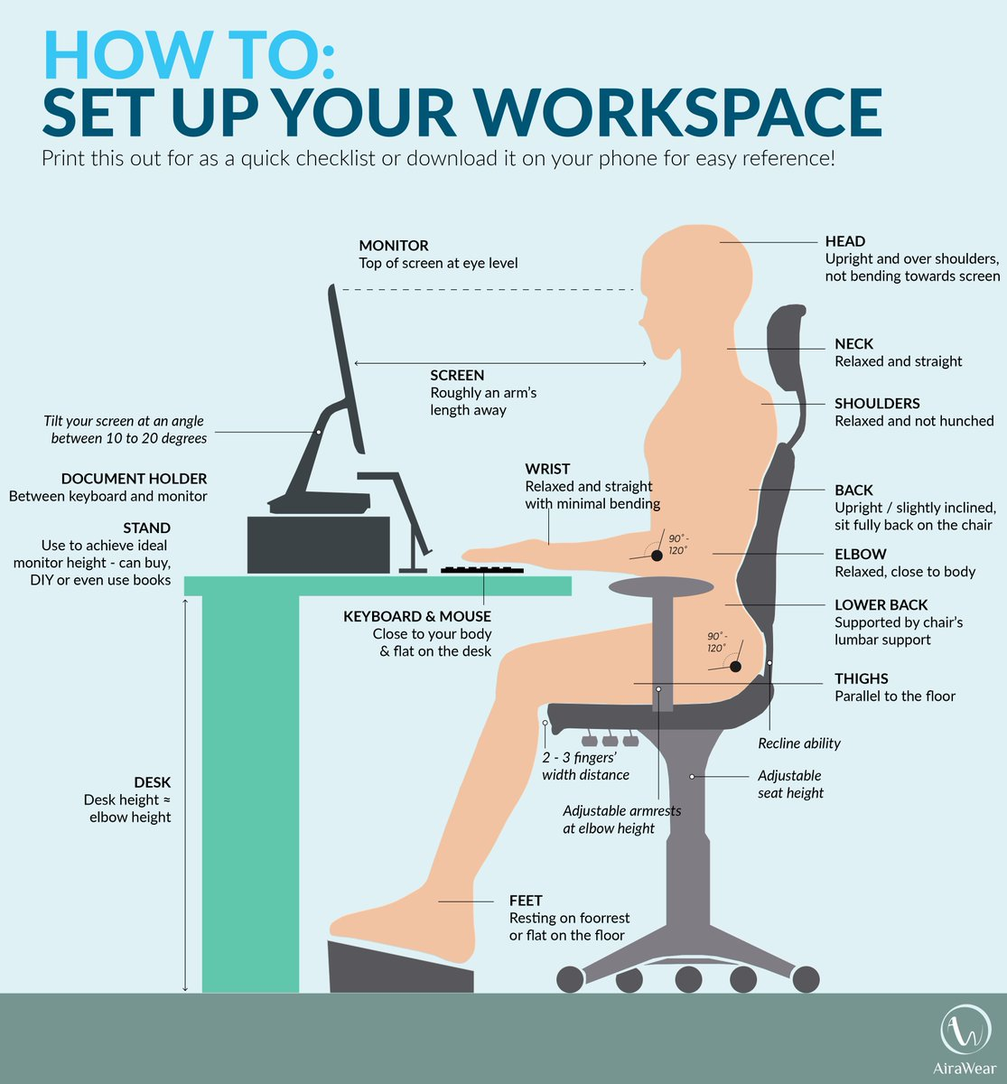 Texas Mutual On Twitter Quot Poor Posture At Your Desk Can