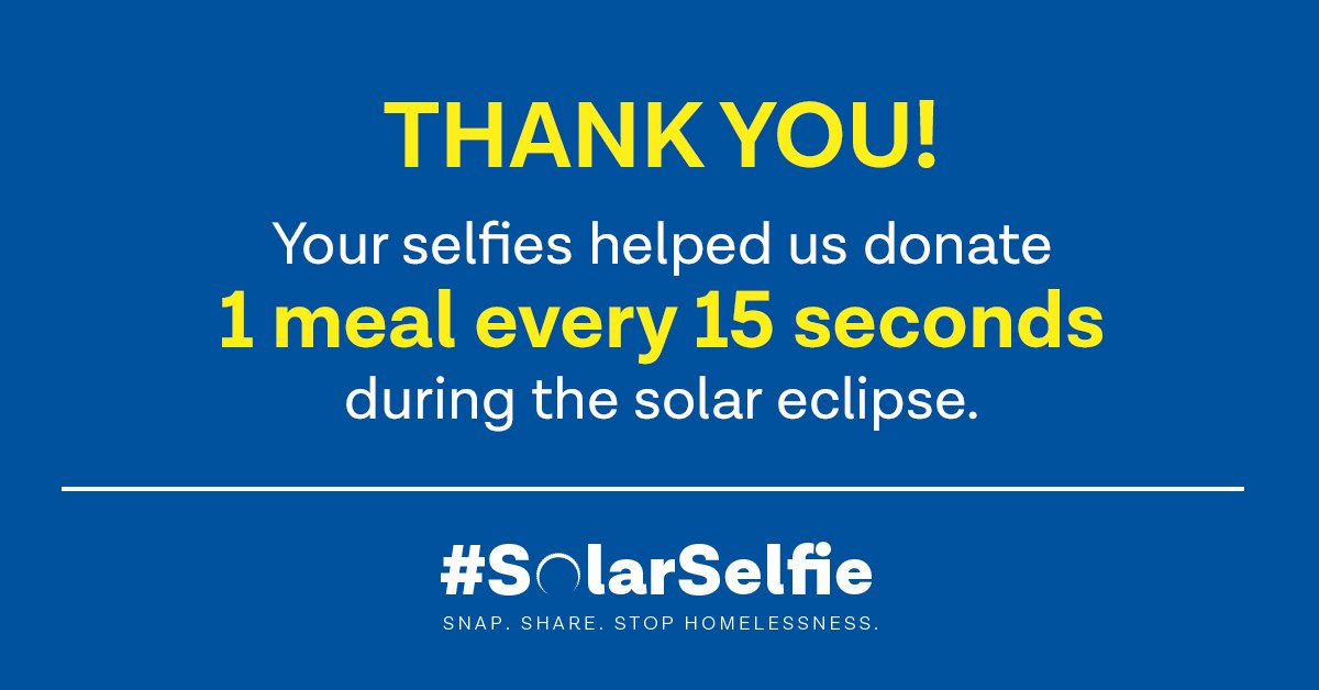 THANK YOU to everyone who helped us donate to @KearneyCenter by posting #SolarSelfie yesterday!