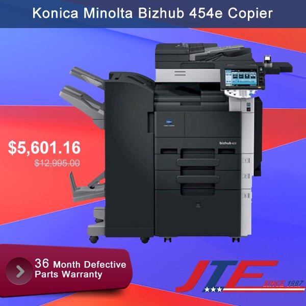 Konica Minolta Bizhub 454e #Copier is a high level #printer which prints 45 high quality pages per minute. Buy Now &gt;&gt; https:// goo.gl/QYXdqX  &nbsp;  <br>http://pic.twitter.com/3VhIRYbDmA