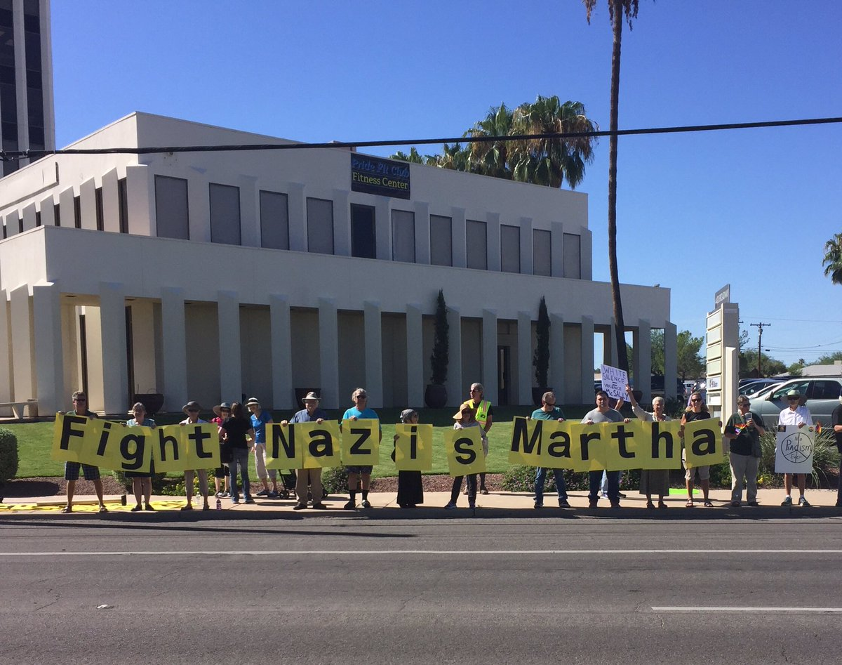 Your constituents have a message for you @RepMcSally #FightNazis