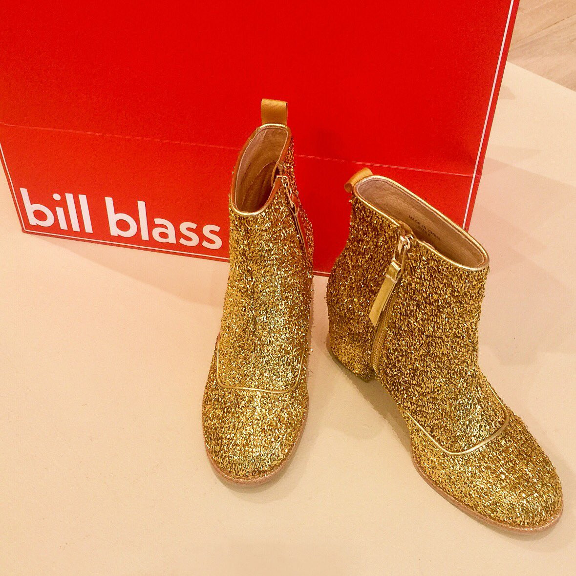 BB Bootie Gold is ready to shine your day and night! Link in bio for our fall collection! #billblass #bootie #shoes #gold https://t.co/NrxFAh1ITE
