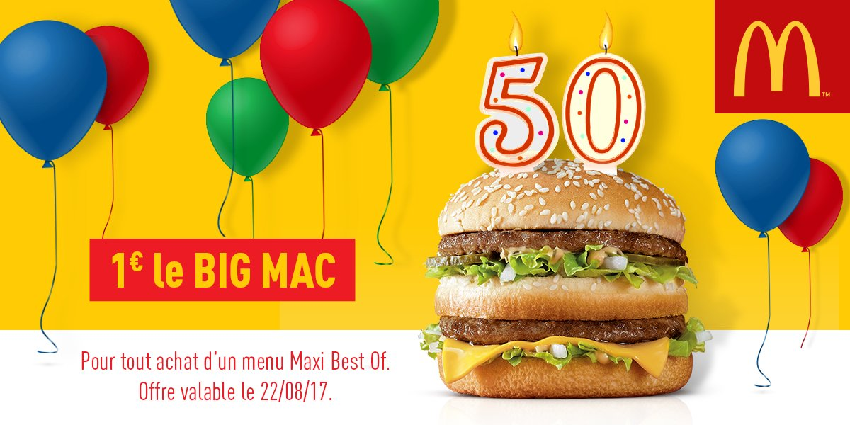 mcdonald 39 s antilles on twitter mardi 22 08 17 pour l anniversaire du big mac profite d une. Black Bedroom Furniture Sets. Home Design Ideas