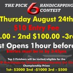 Join us this Thursday -Twilight racing and Handicapping contest! Don't miss it! #handicapping #ajaxdowns #win #quarterhorse #ontarioracing