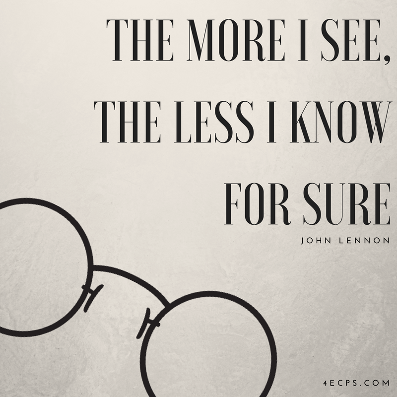 &quot;The more I see, the less I know for sure&quot; - John Lennon #vision #johnlennon #eyecare #optometry #4ecps<br>http://pic.twitter.com/oX8hlT4tGg