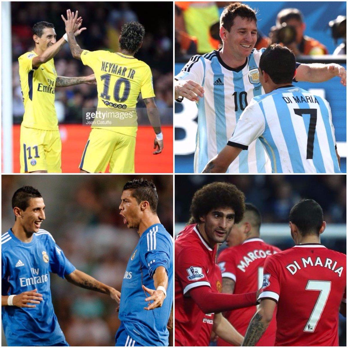 N'empêche Di Maria aura joué avec les plus grands artistes du foot mondial.