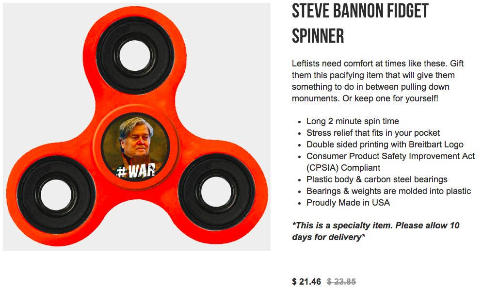Is Steve Bannon dressed as Napoleon in this fidget spinner?
