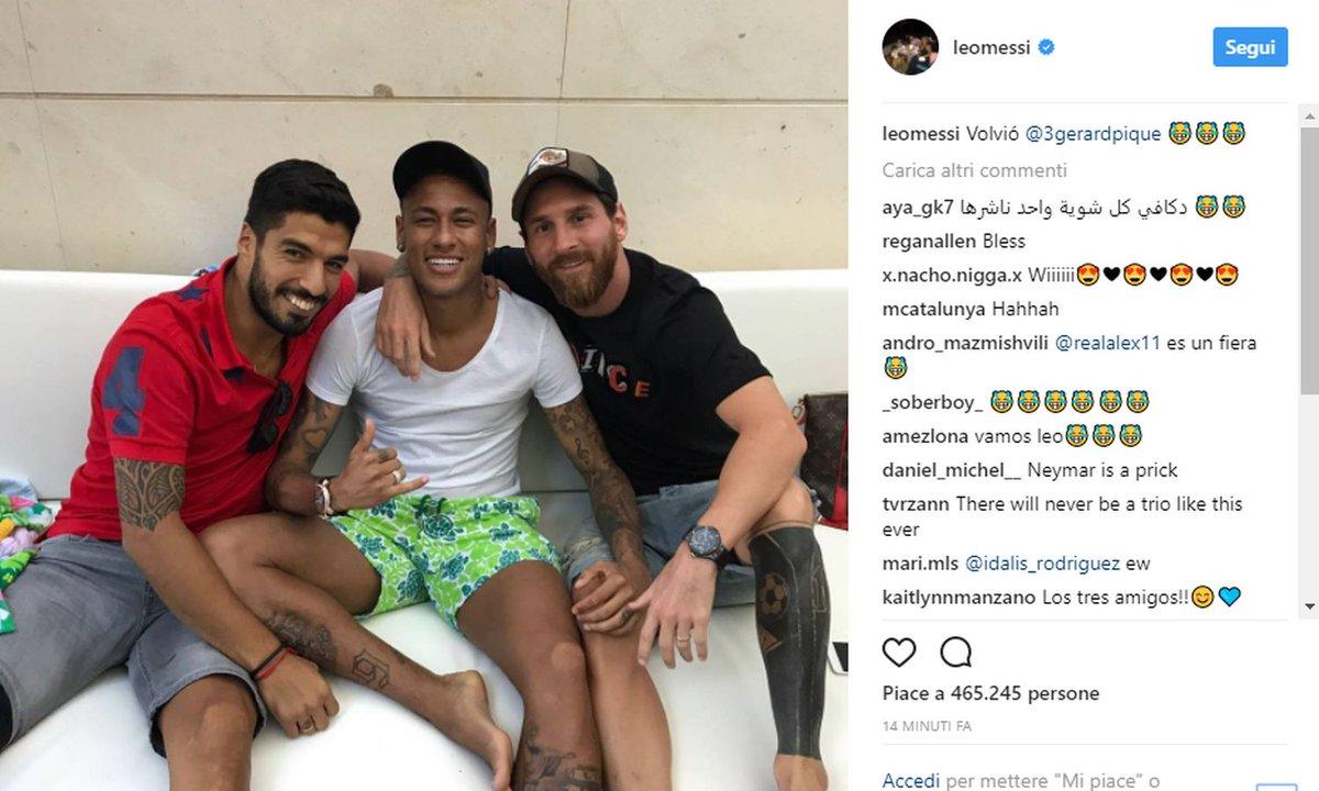 """Messi Neymarla şəklini paylaşdı və Pikeyə sataşdı:""""O qalır"""""""