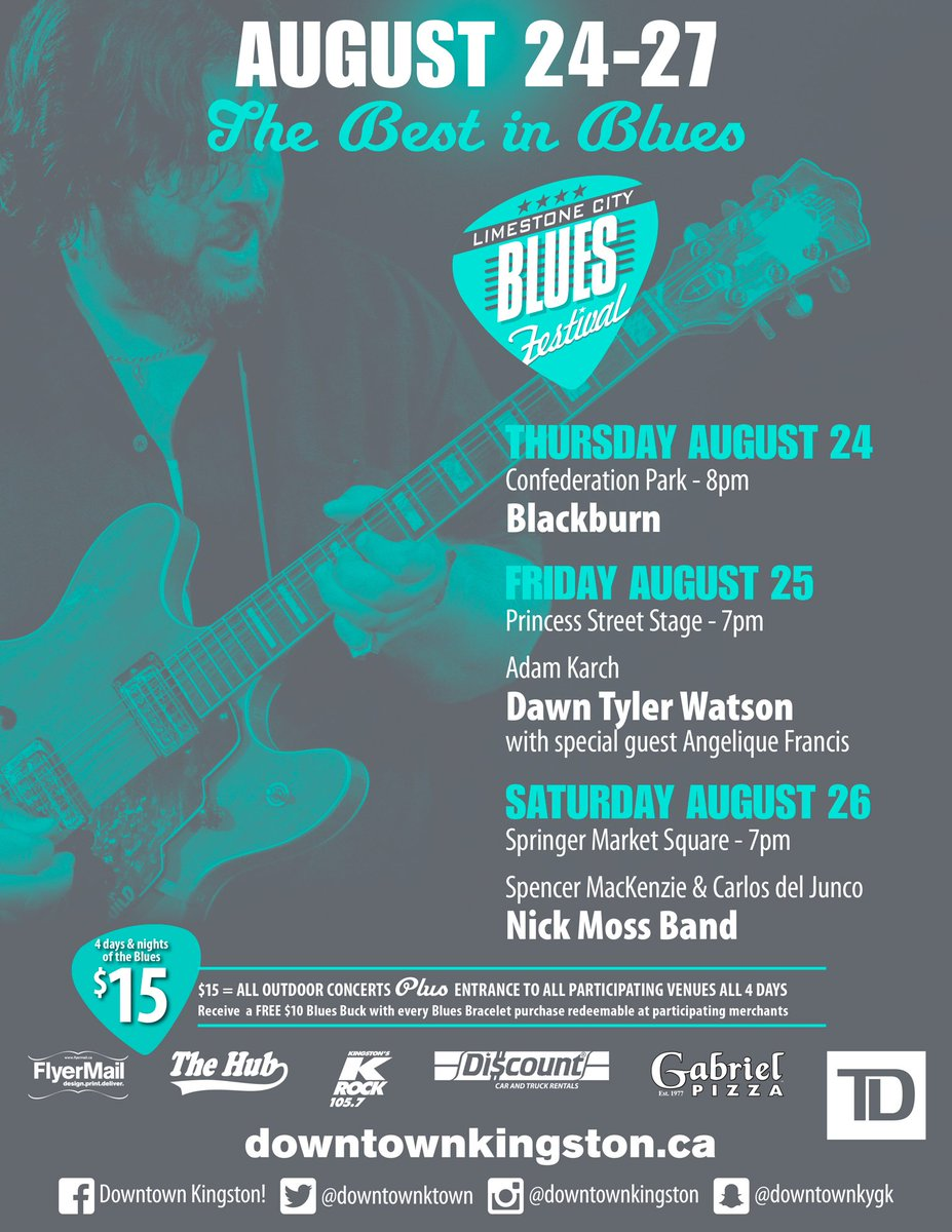 Limestone City Blues Fest is just around the corner! $15 for the entire weekend! #YGK #mydowntownktown<br>http://pic.twitter.com/GixFw2Zqlg